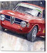Alfa Romeo Giulie Sprint Gt 1966 Acrylic Print by Yuriy  Shevchuk