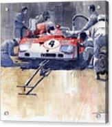 Alfa Romeo T33 Tt3 1972 Targa Florio  Acrylic Print