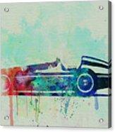 Alfa Romeo Tipo Watercolor Acrylic Print by Naxart Studio