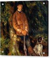 Alfred Berard And His Dog 1881 Acrylic Print