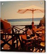 Algarve Beach Bar Acrylic Print