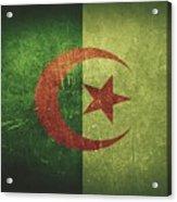 Algeria Distressed Flag Dehner Acrylic Print