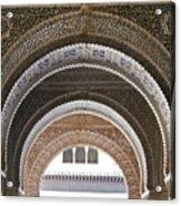 Alhambra Arches Acrylic Print by Jane Rix