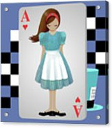 Alice 3d Flying Cards Acrylic Print