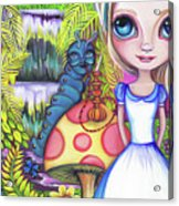 Alice And Absolem Acrylic Print