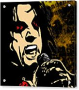 Alice Cooper Illustrated Acrylic Print