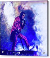 Alice Cooper On Stage Acrylic Print