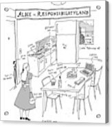 Alice In Responsibilityland Acrylic Print