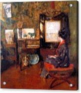 Alice In Studio In Shinnecock Acrylic Print