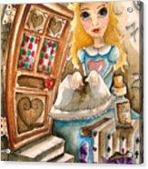 Alice In Wonderland 2 Acrylic Print by Lucia Stewart