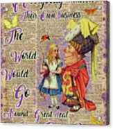 Alice With The Duchess Vintage Dictionary Art Acrylic Print