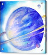 Alien Planet. Blue Light Of Hope Acrylic Print