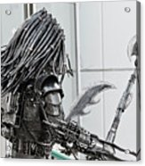 Alien Predator Acrylic Print by Yurix Sardinelly