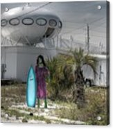 Alien Space Ship House Florida Architecture Acrylic Print
