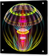 Alien Sphere Fractal Fantasy Acrylic Print