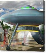 Alien Vacation - Gasoline Stop Acrylic Print