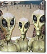 Alien Vacation - Hoover Dam Acrylic Print