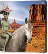 Alien Vacation - Monument Valley Acrylic Print
