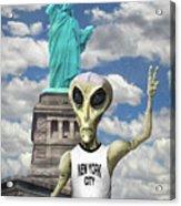 Alien Vacation - New York City Acrylic Print