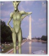 Alien Vacation - Washington D C Acrylic Print