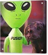 Alien's Best Friend Acrylic Print