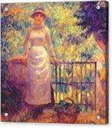 Aline At The Gate Girl In The Garden 1884 Acrylic Print
