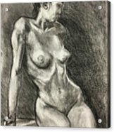 Alison Charcoal On Paper From Observation  Acrylic Print