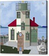 Alki Point On Elliott Bay Acrylic Print