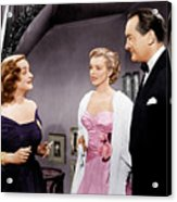All About Eve, From Left Bette Davis Acrylic Print