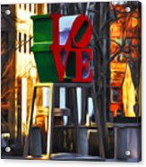 All About Love Acrylic Print