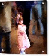 All Alone In A Crowd Acrylic Print