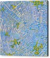 All Around In Light-blue Acrylic Print