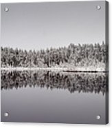 All Colors Of Gray. Panorama Acrylic Print