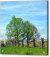 All Fenced In Along The Blue Ridge Parkway Acrylic Print