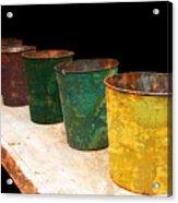 All In A Row Acrylic Print