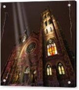 All Is Real Except The Church Acrylic Print