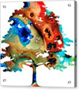 All Seasons Tree 3 - Colorful Landscape Print Acrylic Print