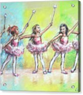 All Together Now...first Ballet Recital Acrylic Print