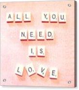 All You Need... Acrylic Print
