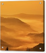 Allegheny Mountain Sunrise Vertical Acrylic Print