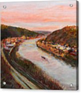 Allegheny Valley Acrylic Print by Martha Ressler