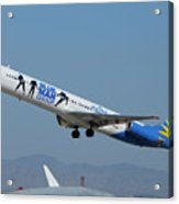 Allegiant Air Mcdonnell-douglas Md-83 N408nv Mesa Gateway Airport Arizona March 11 2011 Acrylic Print