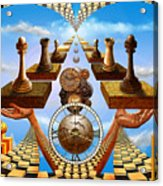 Allegory Of Chess. Equal Exchange Acrylic Print