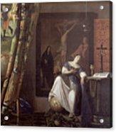 Allegory Of The Faith Acrylic Print by Jan Vermeer