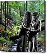 Allen And Steve Jam With Friends On Mt. Spokane Acrylic Print