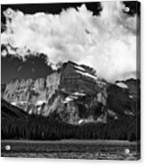 Allen Mountain Towers Over Swift Current Lake Acrylic Print