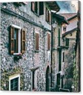Alley In An Alpine Village #1 Acrylic Print