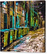 Alley In Uptown Chicago Dsc2687 Acrylic Print