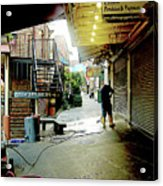 Alley Market End Of Day Acrylic Print