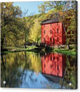 Alley Spring Mill Reflection Acrylic Print